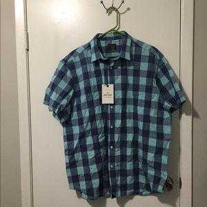 New UnTuckit Short Sleeve shirt XXL Plaid